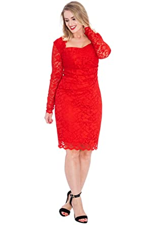 Robe cocktail rouge luxe