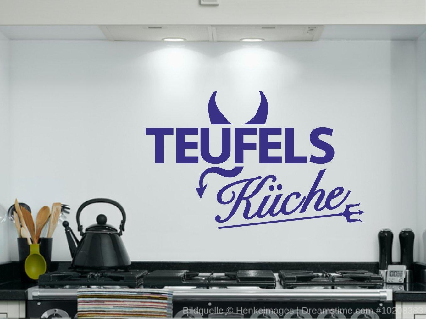 TEUFELS KÜCHE - Wandtattoo für Ihre Küche - *** WUNSCHFARBE MÖGLICH ...