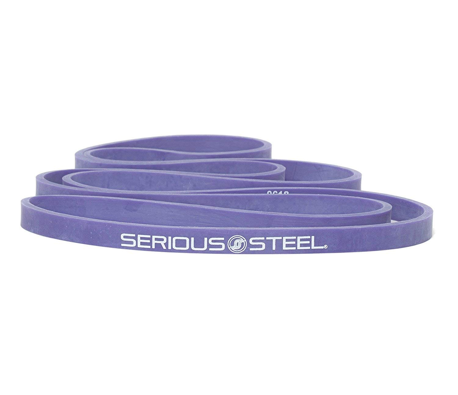 """Purple - #1 Pull-Up Band   Assisted Pull-up Loop Band   Resistance & Stretch Band Size: 1/2"""" x 4.5mm Resistance: 5-35lbs by Serious Steel Fitness (Image #6)"""