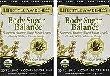 Lifestyle Awareness, Body Sugar Balance w/ Tulsi Holy Basil, Caffeine Free, Organic, 20 Count / 2 Pack