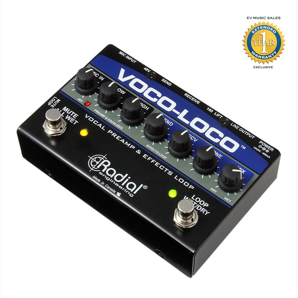 Radial Engineering Voco-Loco Effects Switcher for Voice or Instrument with 1 Year Free Extended Warranty