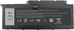 Fully F7HVR Replacement Battery Compatible with Dell Inspiron 15 7537 17 7737 Series 062VNH G4YJM T2T3J - 14.8V 58Wh