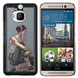 Eason Shop / Premium SLIM PC / Aliminium Casa Carcasa Funda Case Bandera Cover - Bailarina Mujer Arte Pintura - For HTC One M9+ M9 Plus