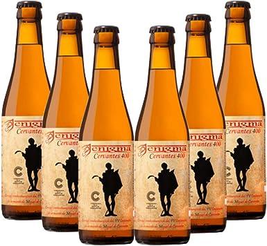 Cervezas Enigma - Cervantes 400-6 botellas x 0,33 L: Amazon.es ...