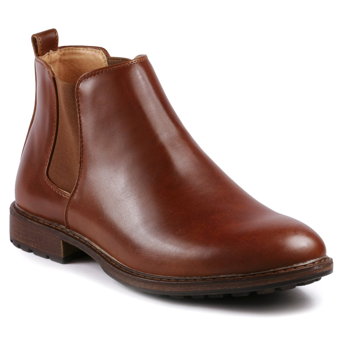Metrocharm MC137 Men's Formal Dress Chelsea Ankle Boot (10 D(M) US, Brown)