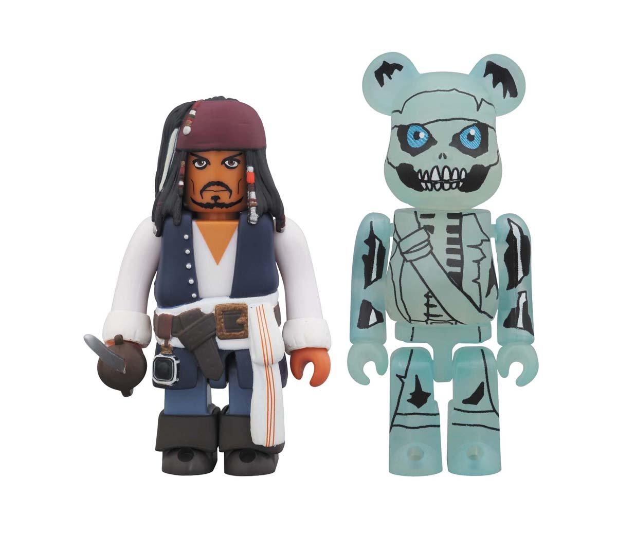 KUBRICK /& BE@RBRICK Pirates of the Caribbean On Stranger Tides Jack Sparrow /& Barboza