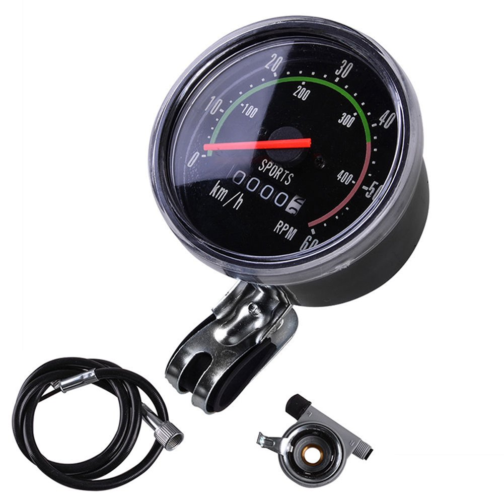 GogoForward Vintage Style Bicycle Bike Speedometer Analog Mechanical Odometer With Hardware