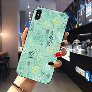 Compatible with iPhone Xs Max Case | Tough Groove | Soft TPU Engraved Grooves Phone Case | Shockproof Anti-Scratch | Forest Herb Green Base