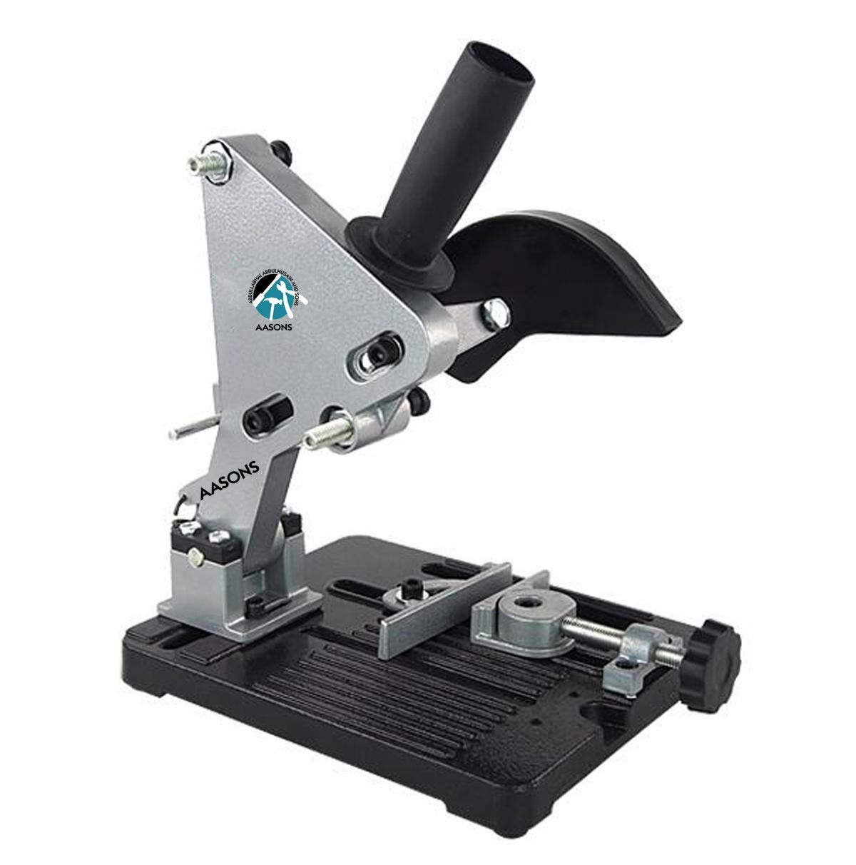 """AASONS Heavy Duty Angle 4""""/5"""" Grinder Stand (Black:Silver)"""