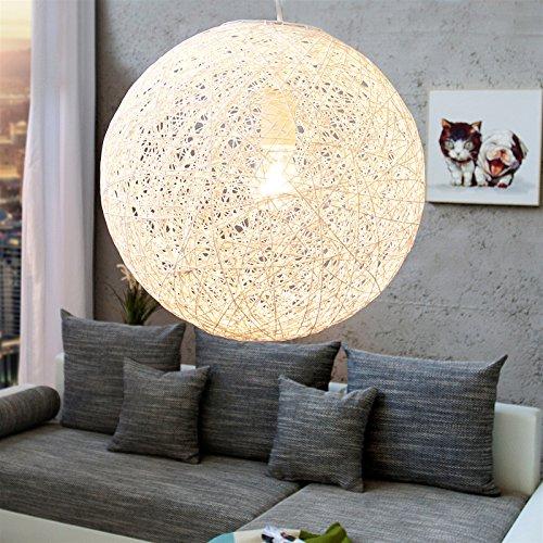 Design Hangeleuchte Planet 2 Hangelampe Rund Weiss O 35 Cm Amazon