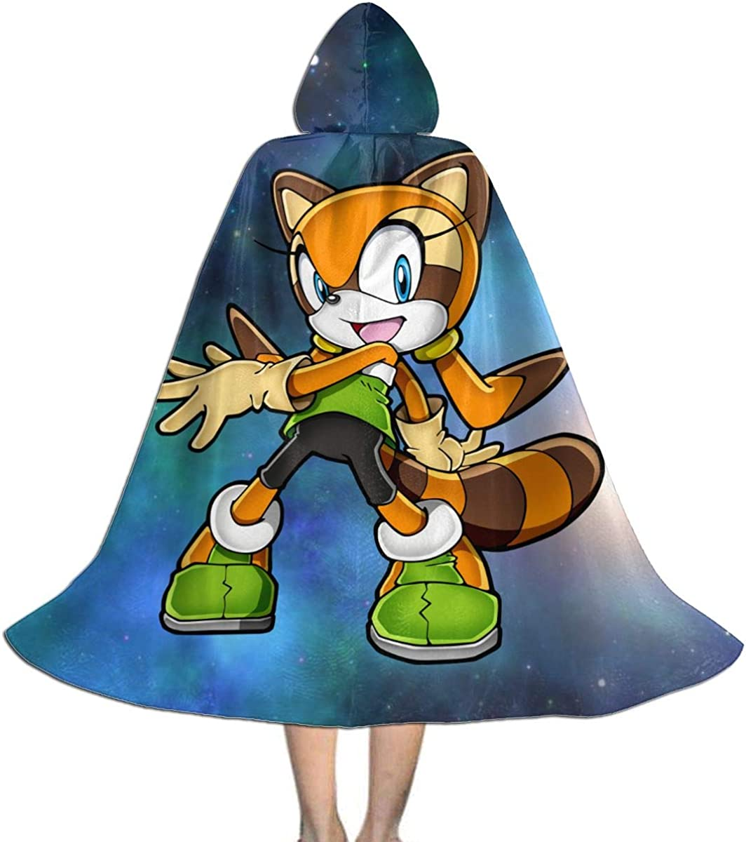 Amazon Com Ssxvjaioervrf Sonic The Hedgehog Iarine The Raccoon Boys Girls Kids Halloween Costumes Cloak With Hood Clothing
