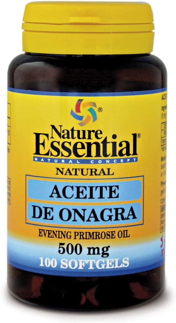 100 perlas Aceite de Onagra 500 mg con 10% en GLA (Ácido Gamma ...