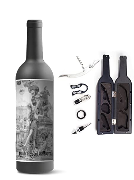 New Funny Novelty Happy Hour Wine Lovers Accessories Connoisseur
