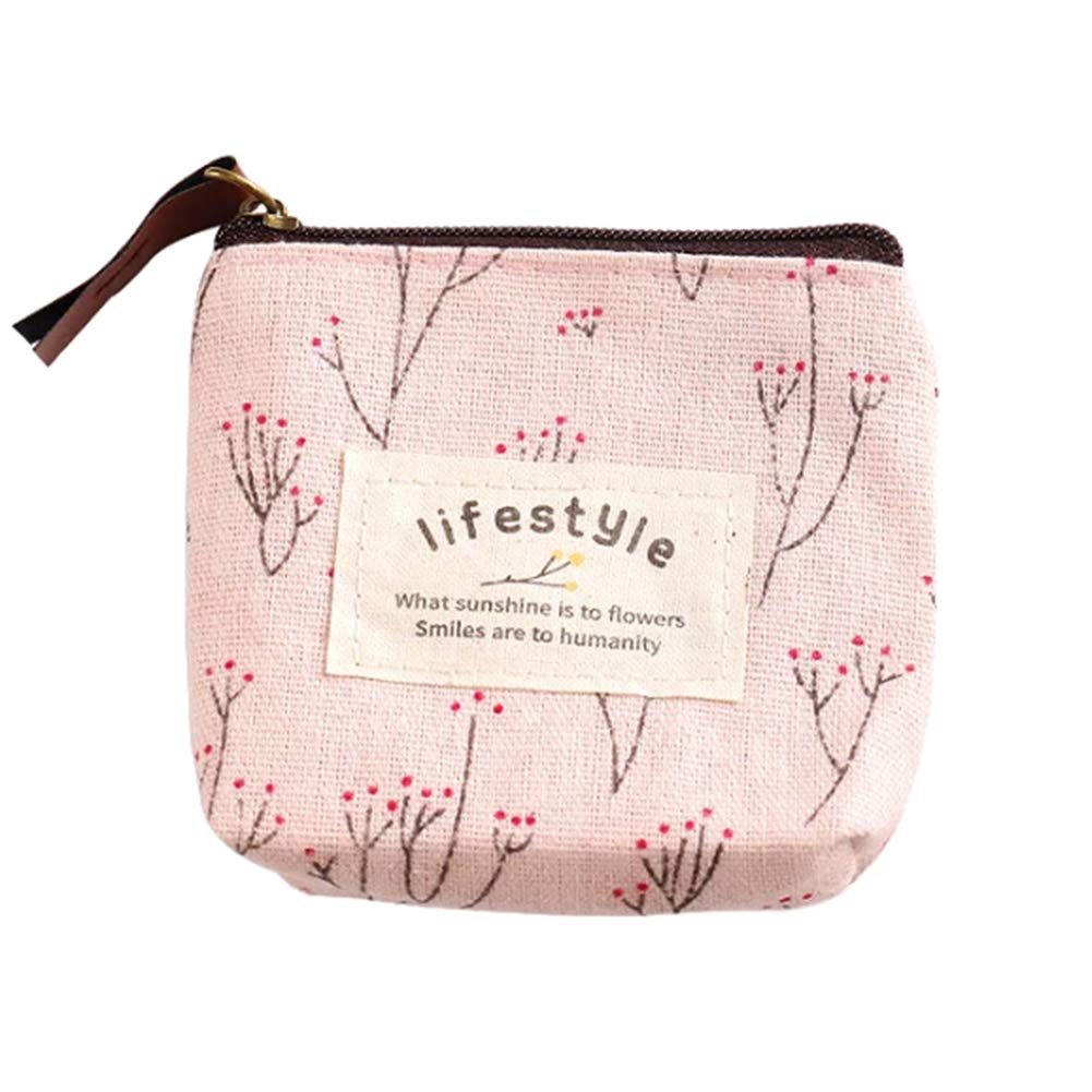 YaptheS Marble Coin Purse Change Cash Bag Money Holder Wallet Small Zipper Clutch Card Pouch Travel Pocket for Women Girls Pink Easy to Use