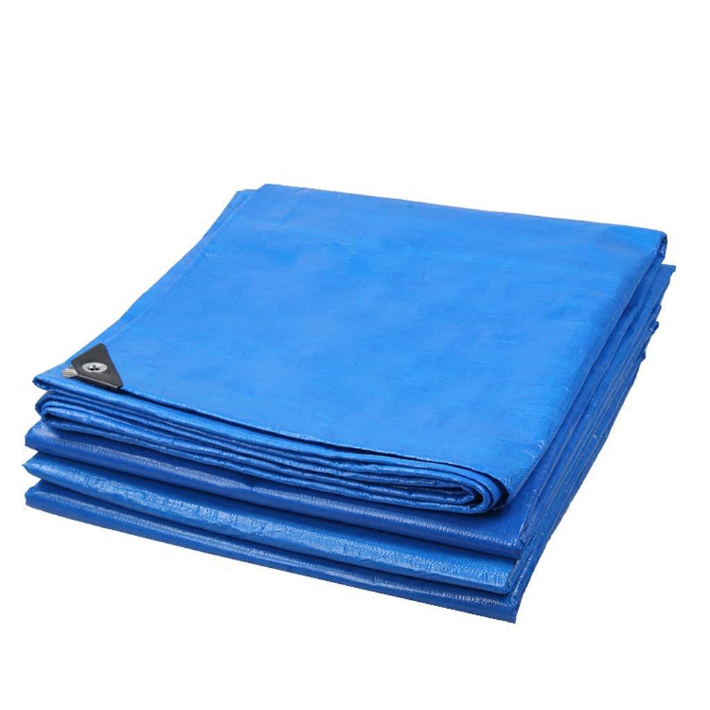 防水布、ブルーオレンジ厚手防水布屋外防水雨天日除けレインクロス B07JNCVQK1   5*6m