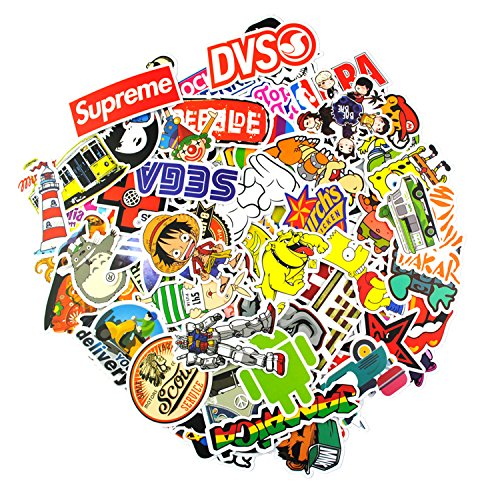 Sticker Pack 100Pcs,KONLOY Waterproof Vinyl Stickers for Wat