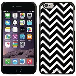 Black And White Chevron design on Black iphone 4 4s Microshell Snap-On Case
