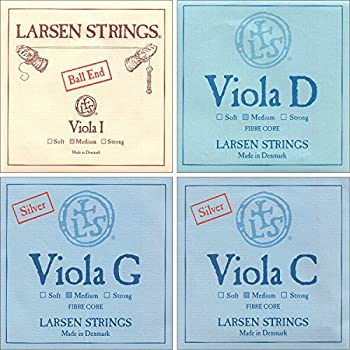 "Larsen up to 16.5"" Viola String Set Medium Gauge with Ball-End A"