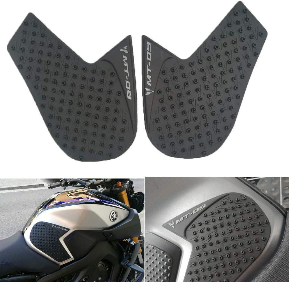Black GZ Knight of God For Yamaha MT-09 MT09 MT 09 2014 to 2017 2018 Motorcycle Protector Anti slip Tank Pad Sticker Gas Knee Grip Traction Side Decal