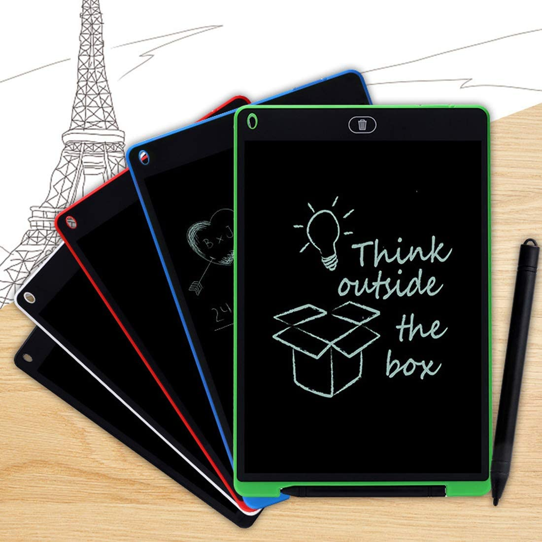 Kavas Portable 12 Inch LCD Writing Tablet Digital Drawing Tablet Handwriting Pads Electronic Tablet Board ultra-thin Board with pen