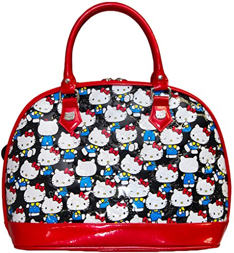 Loungefly Hello Kitty Black Vintage Print Dome Bag & Matching Wallet Bundle