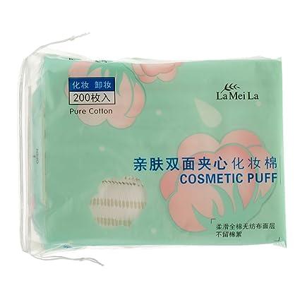 Sharplace 200pcs Toallitas Tisú Facial de Algodón para Removedor de Mascara Facial/Esmalte de Uñas