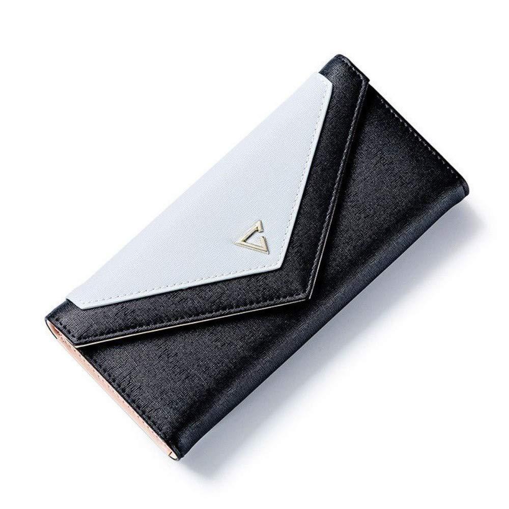 GENGXINLIN財布幾何学的な封筒財布女性デザイナー女性財布カードホルダー電話コインポケットレディース財布A   B07MV4497P