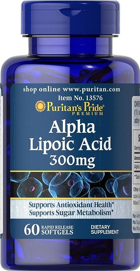 Acido Alfa Lipoico. ALA 300 mg con 60 perlas. (Pack 2u.)