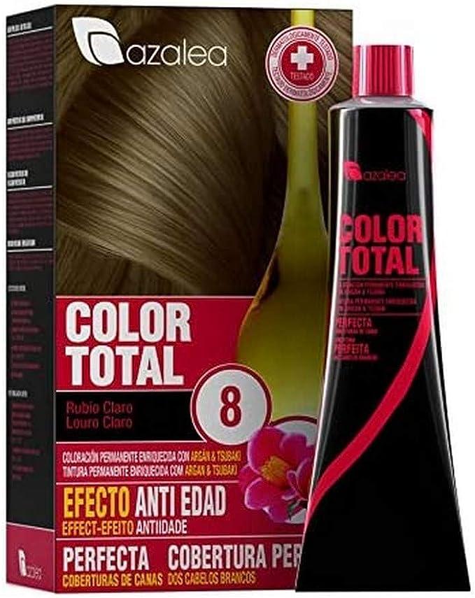 Azalea Total Tinte Capilar Permanente, Color Rubio Claro - 224 gr