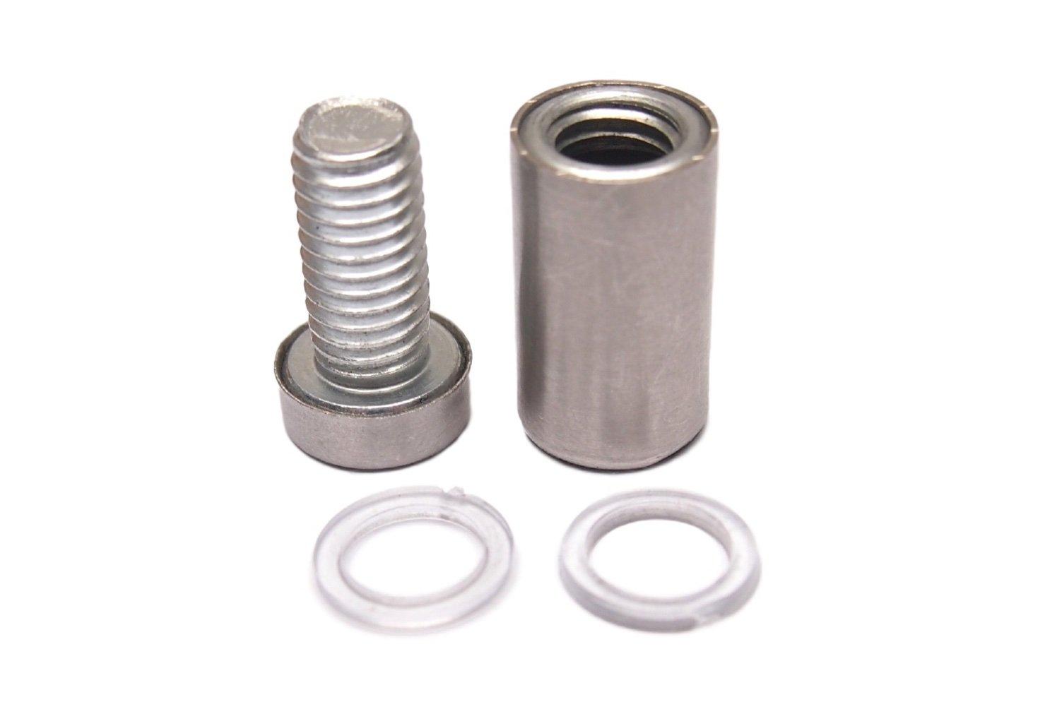 4/x acero inoxidable tornillos de Standoff 12/mm x 25/mm de cristal//espejo marco Mounts