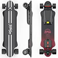 """Teamgee H20 39"""" Electric Skateboard with Remote, 1200W Dual Motor, 30KM Range, 26PMH Top Speed, 4 Speed Adjustment…"""