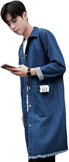 PPEIREE デニムコート メンズ 長袖 春秋服 アウター カジュアル ジージャン おしゃれジャンケット 薄手 コート ゆったり gジャン ストレッチ 紳士着 韓国ファッション