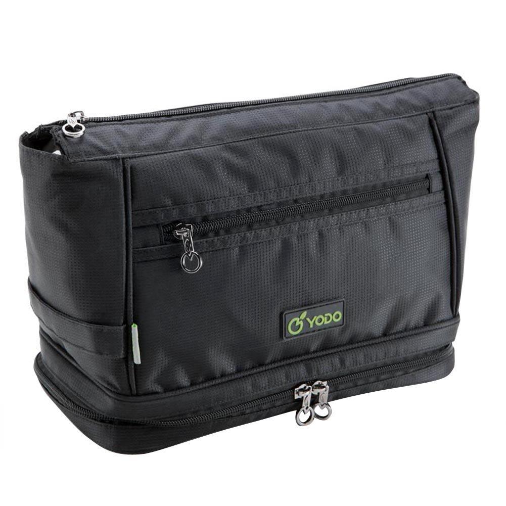 Freeprint Spacious Water-resistant Travel Toiletry Bag Dopp Kit for Men and Women, Black