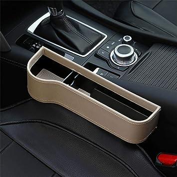 Pair Multifunction PU Leather Car Seat Side Gap Filler Storage Organizer Pocket