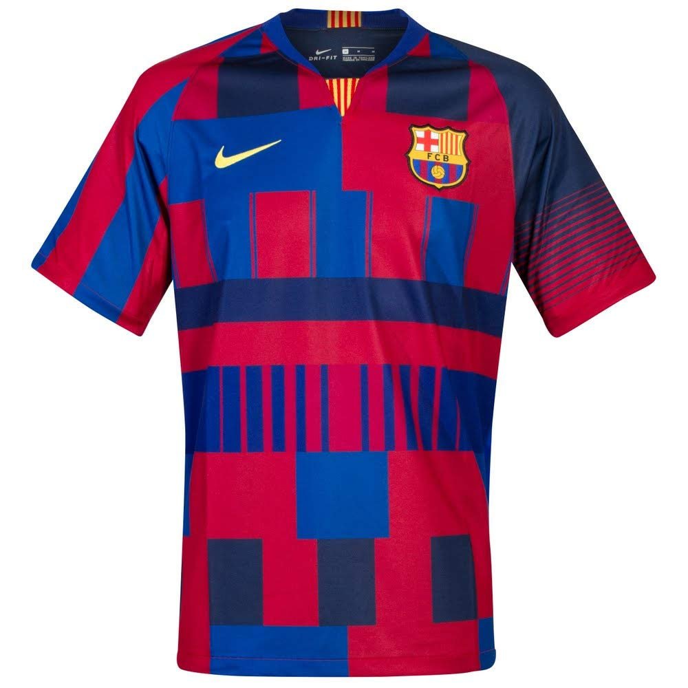 5af7bcb7942 Amazon.com : Nike Men's Soccer F.C. Barcelona 20th Anniversary Home Jersey  : Sports & Outdoors