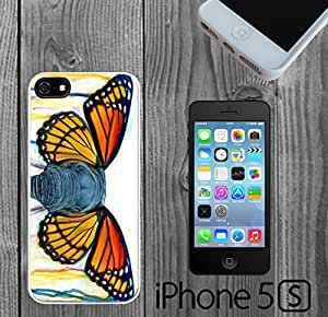 Art Butterfly Ears Elephant Custom made Case/Cover/Skin FOR iPhone 5/5s