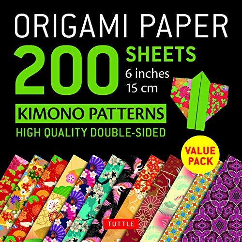 Origami Paper 200 sheets Kimono Patterns 6