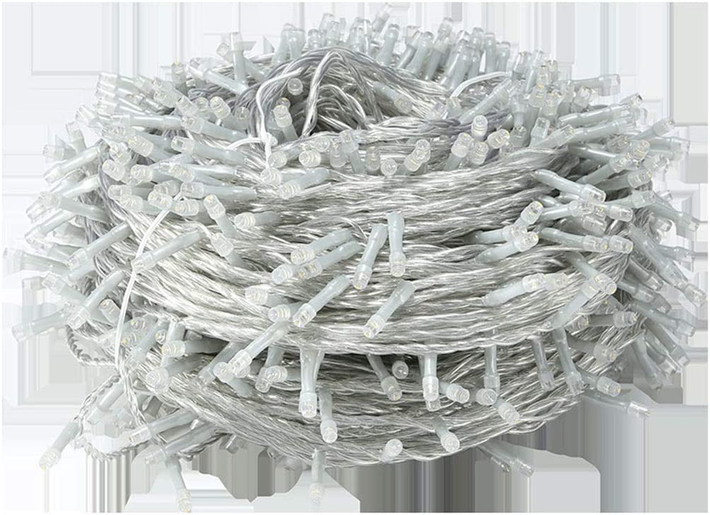 KELITE Lichterketten 1000LED 100M 8 Modi Schnur-Licht-Plug-in (UK oder EU) for Indoor Outdoor-Hochzeit Schlafzimmer-Weihnachtsgarten-Terrasse Dekorationen (Color : Colorful-50m*500LEDs) Warm White-20m*200leds