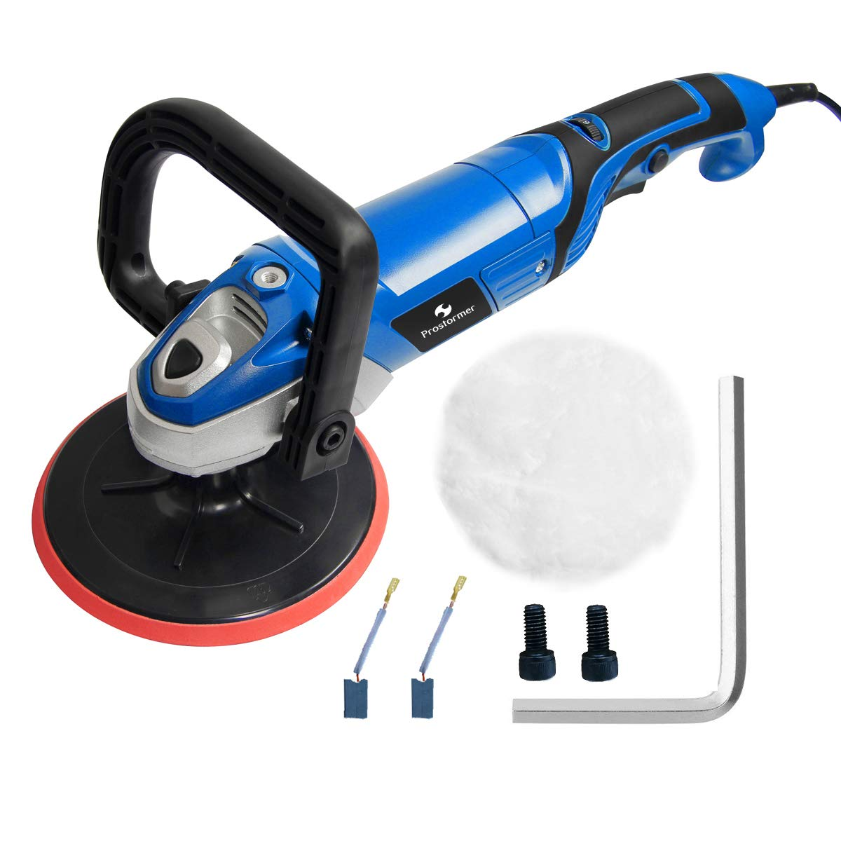 """Prostormer 7"""" Electric 6 Variable Speed Polisher Sander Buffer for Car Auto Polishing, Buffing, Detailing"""