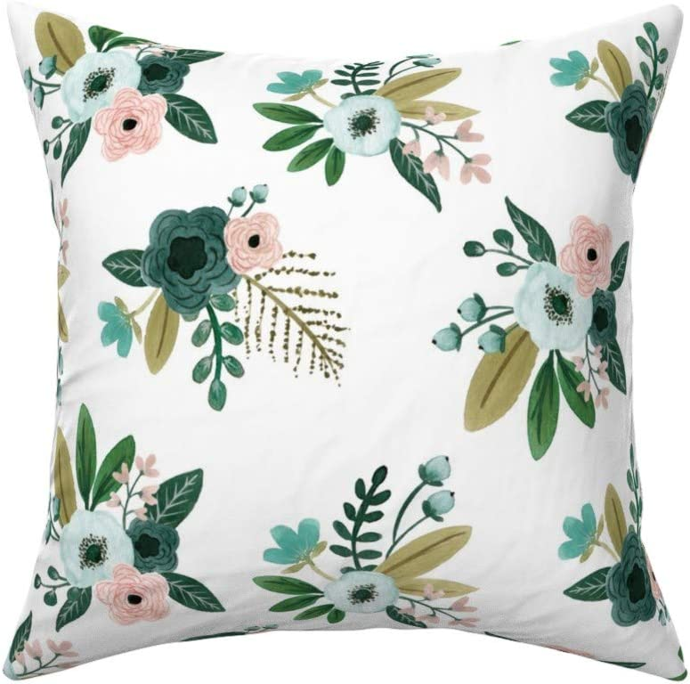 Roostery Watercolor Bouquet Linen Cotton Throw Pillow Cover Floral Bunches Painted Minimalist Home Decor Flora Flower Moder By Bluebirdcoop Cover W Optional Insert Home Kitchen