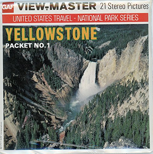 Paint Pot Yellowstone National Park - Classic ViewMaster - Yellowstone - Packet NO. 1 - 3Reel Packet - 21 3D Images from 1970s