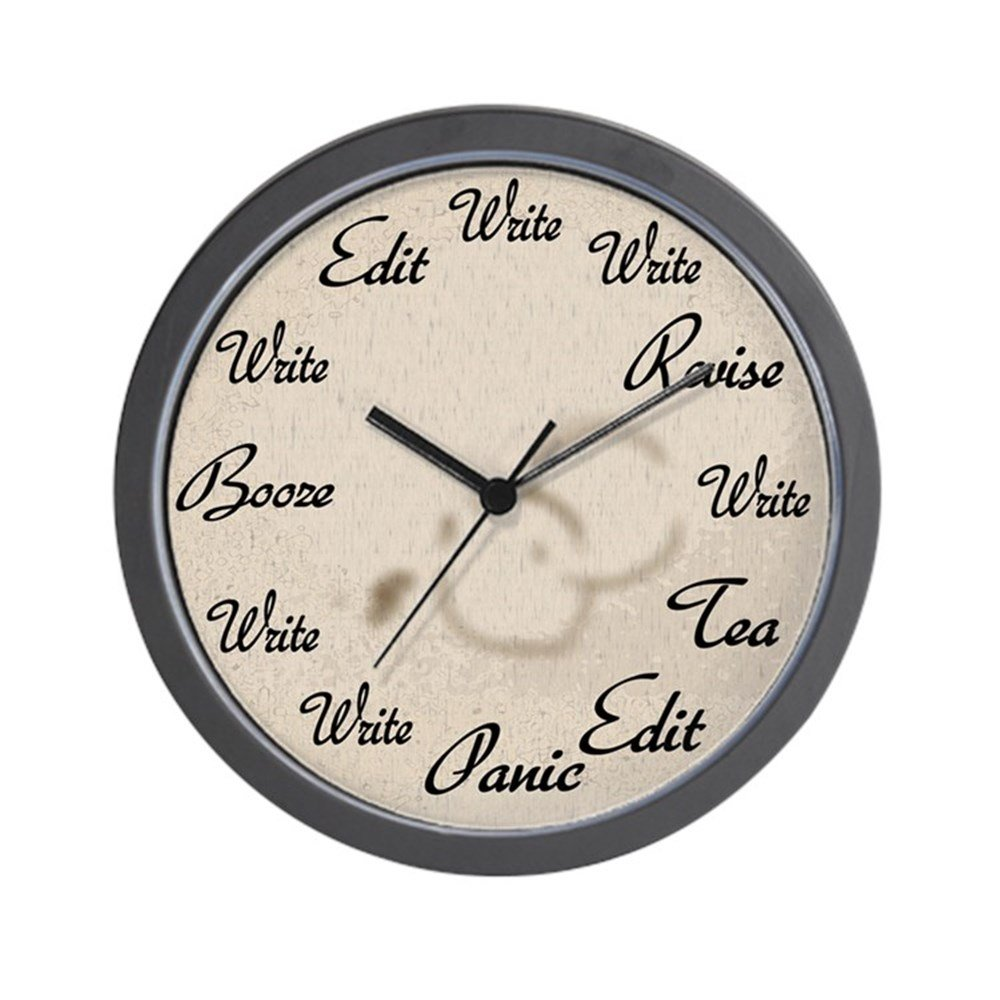 Amazon cafepress writers clock unique decorative 10 amazon cafepress writers clock unique decorative 10 wall clock home kitchen amipublicfo Image collections