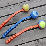 TopTops® New Dog Ball Launcher/Thrower,Tennis Ball Toy Thrower Stick/Great Puppy Dog Toy/Pet Dog Trainer-Excellent Exercise Great Gift(Random Color)