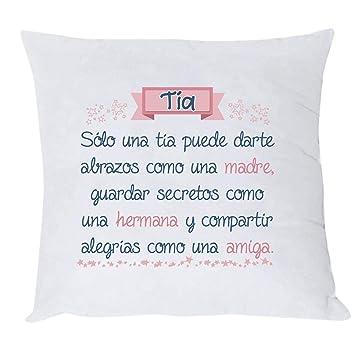 MISORPRESA COJIN con Texto DEFINICIÓN DE Tia Original para Tia. Regalo para Tia.