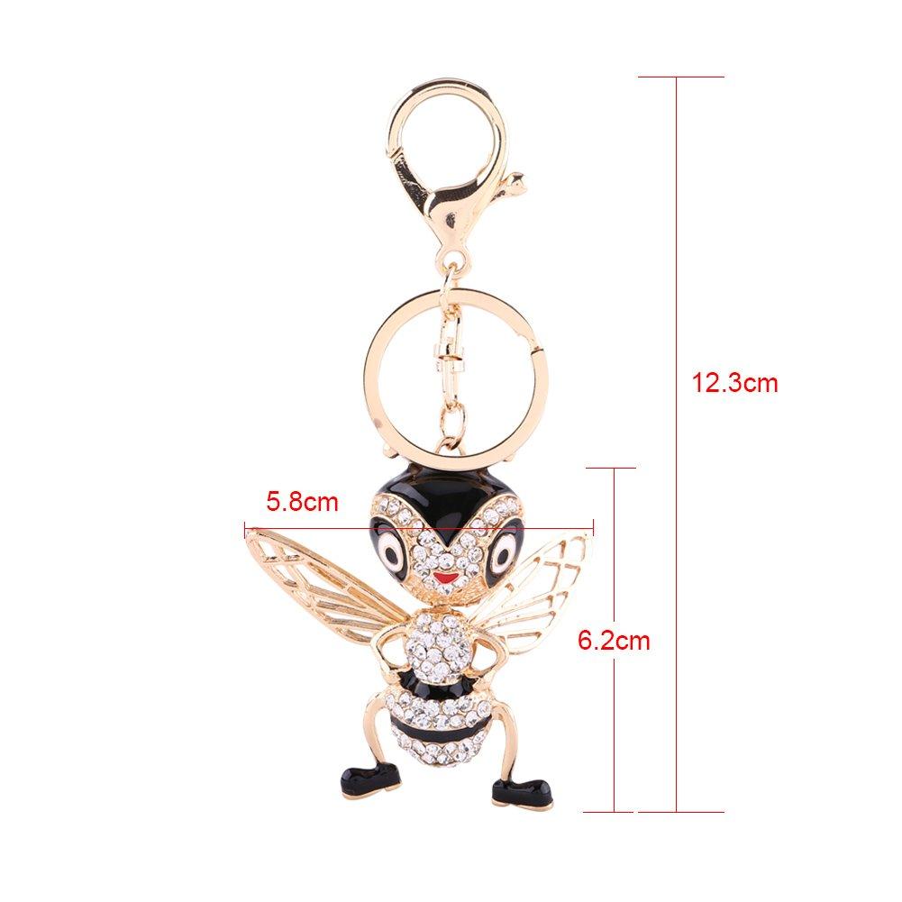 Amazon.com: walfront Cute Bee – Llavero con muñeca y dije de ...