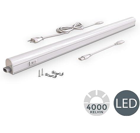 950lm Blanca c/álida parlat LED l/ámparas bajo Muebles Rigel Juego de 5 Cada 87,3cm