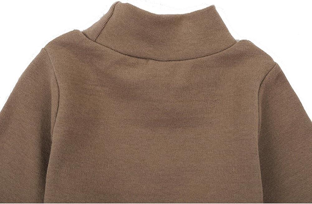 Casa Baby Rollkragenpullover Kinder Langarm Plain Basic Tops M/ädchen Jungen Baumwolle T-Shirt f/ür 2-6 Jahre