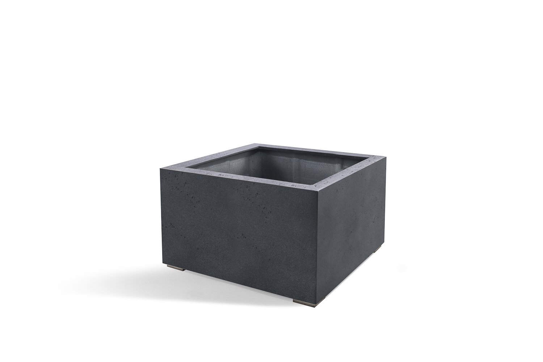 pflanzk bel lite low cube dunkelgrau quadratisch fiberglas 5 jahre garantie 40x60x60cm. Black Bedroom Furniture Sets. Home Design Ideas
