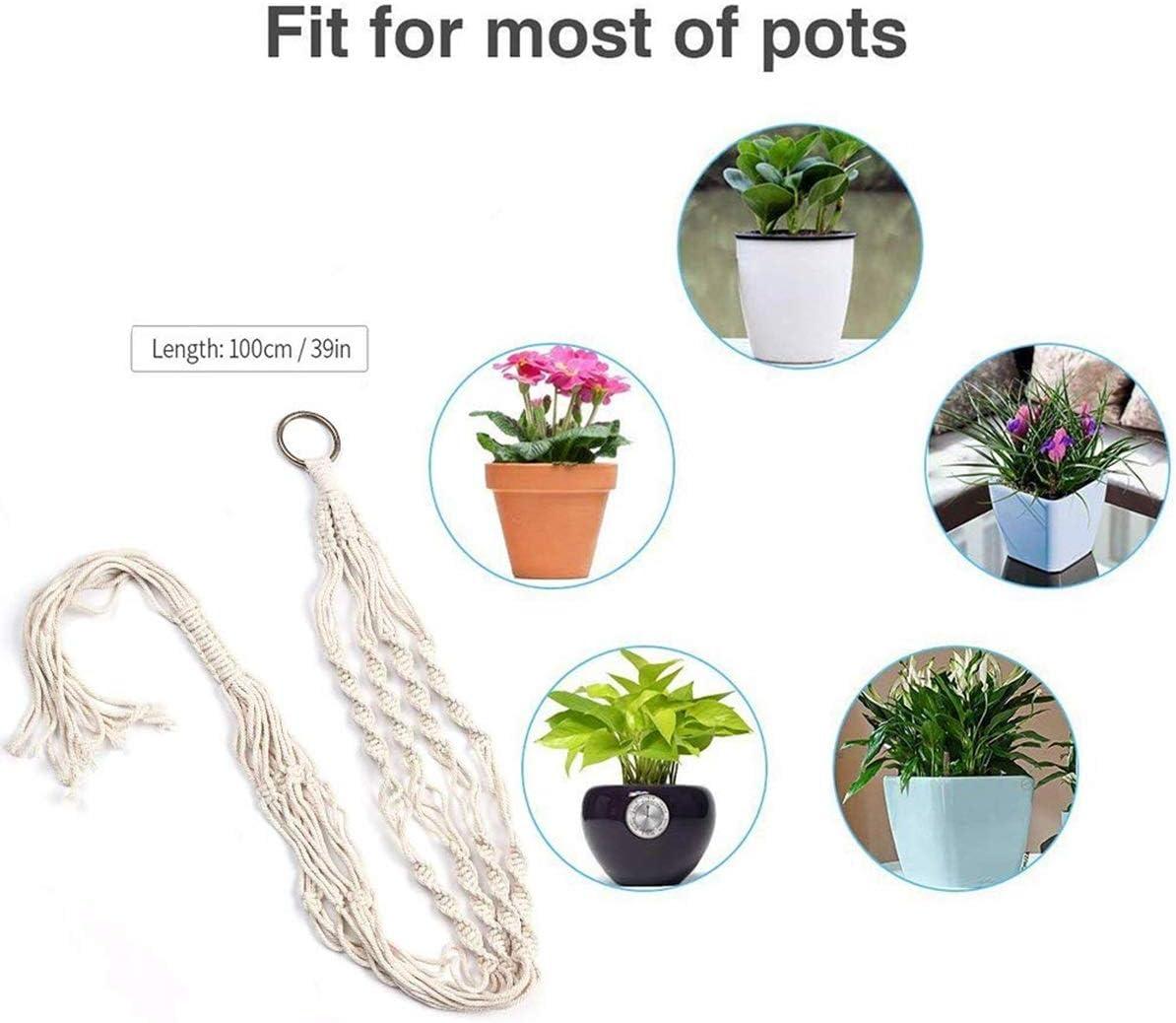 Wallfire Jardini/ère Suspendue de Coton de Panier de jardini/ère accrochante dint/érieur de Pots de Plantes pour Le Bureau /à la Maison 1Pc ou 4 de Jardin Size : 1PCS