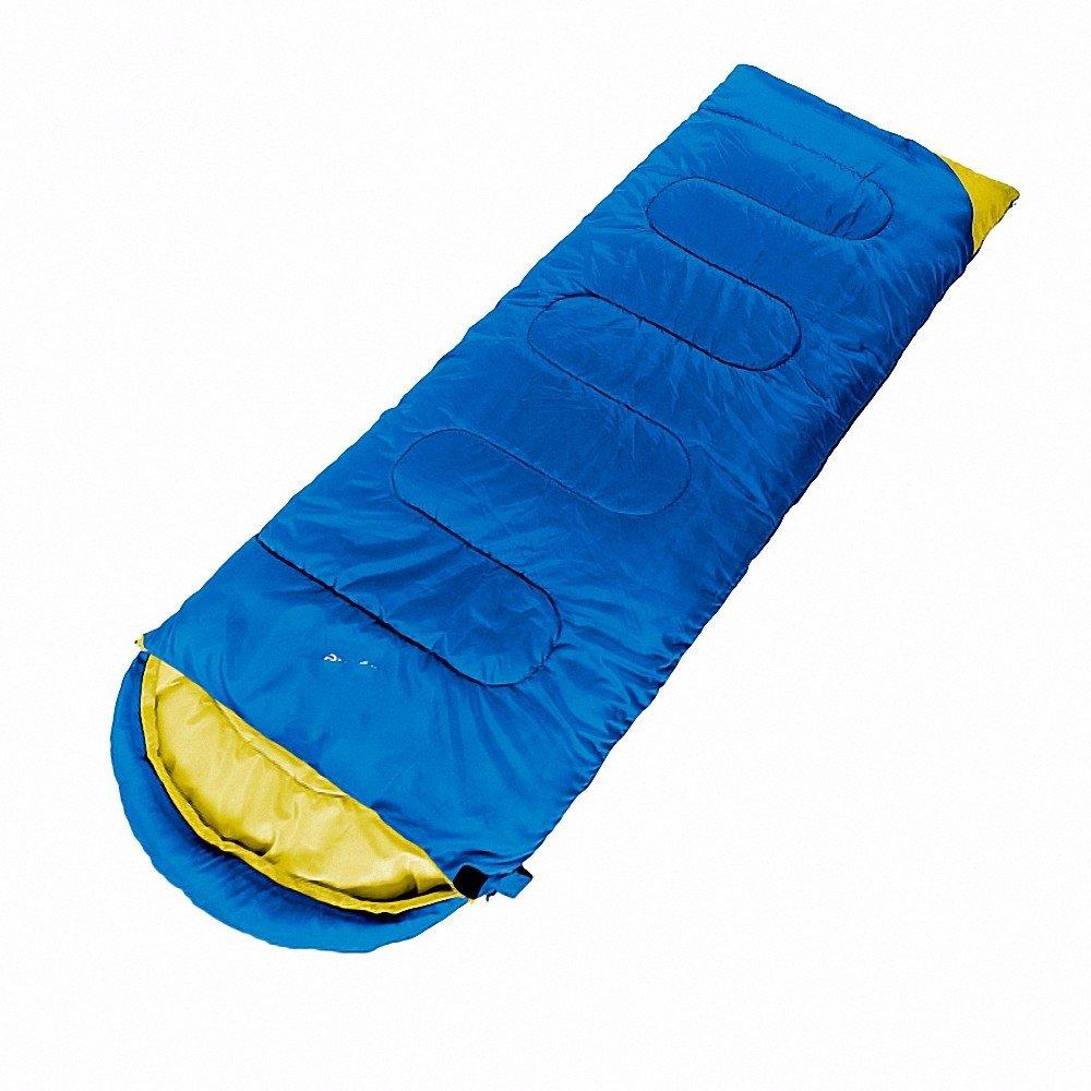 zhudj Saco de dormir, Outdoor solo saco de dormir, alpinismo Camping Camera cálida, adultos saco de dormir puede utilizar giuntato Azul Individual, ...